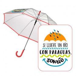 Paraguas automatico transparente Baggy Río