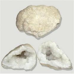 Geoda cuarzo (pareja) –Mediana
