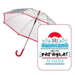 Paraguas automatico transparente Baggy Aguacero