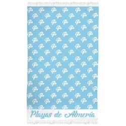 PAREO 90X150 JACQUARD PLAYAS DE ALMERIA COLORES SDOS